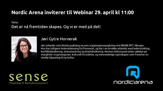 Webinar onsdag 29.april kl 11:00